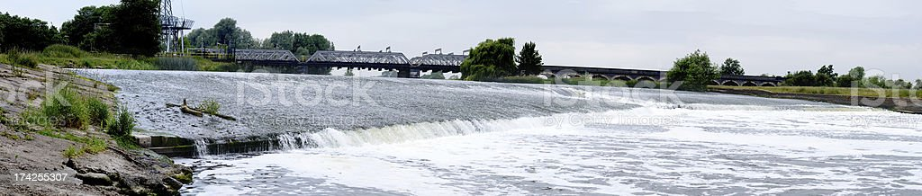 Weir on River Trent stock photo