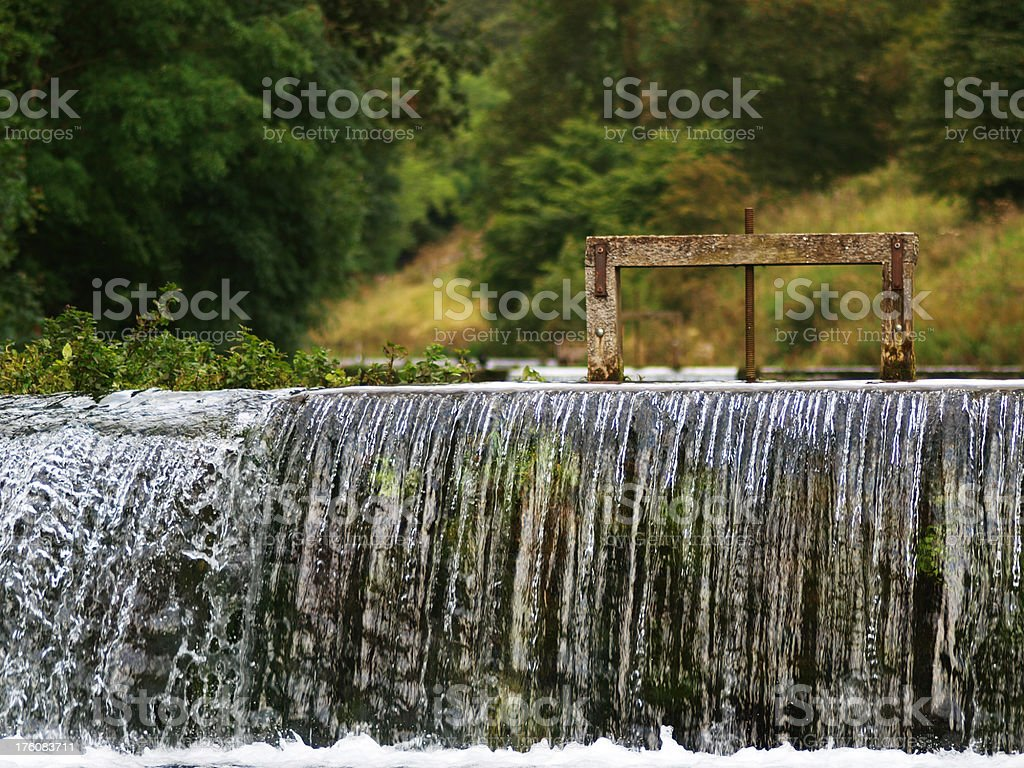Weir royalty-free stock photo