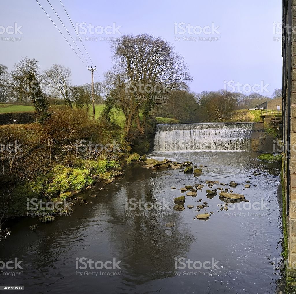 Weir stock photo