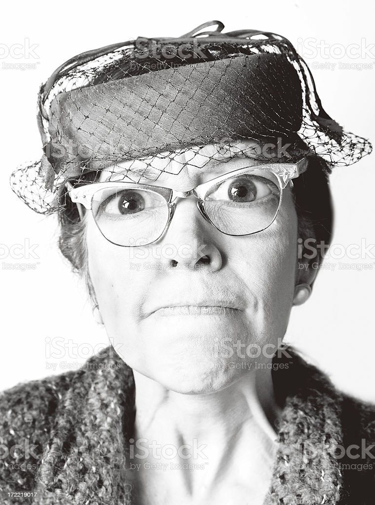 weird old lady stock photo