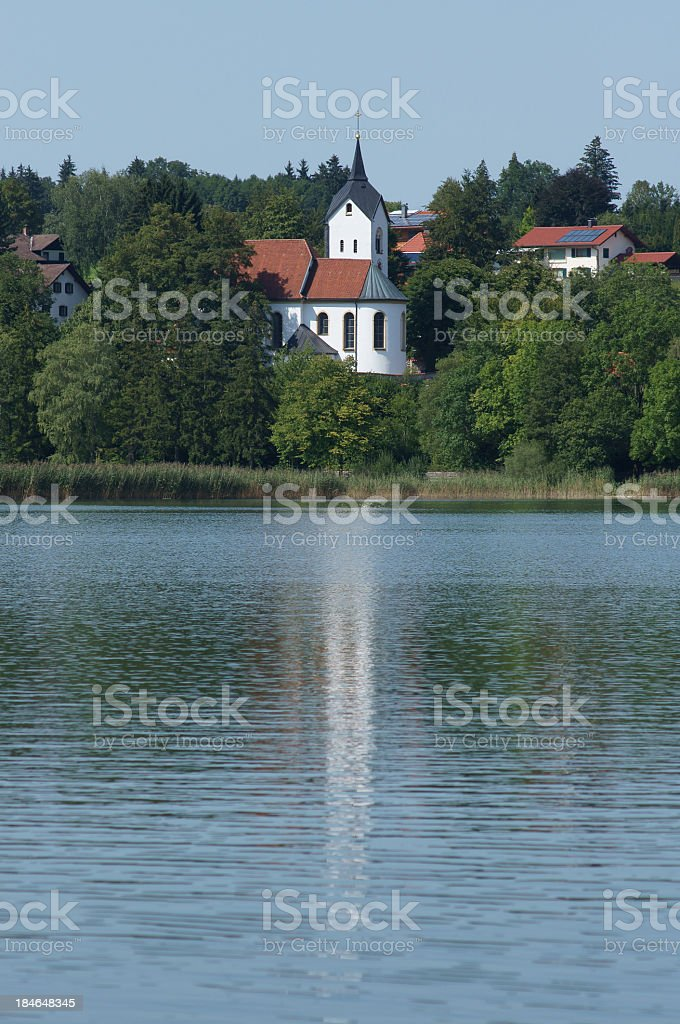 Weissensee Church royalty-free stock photo