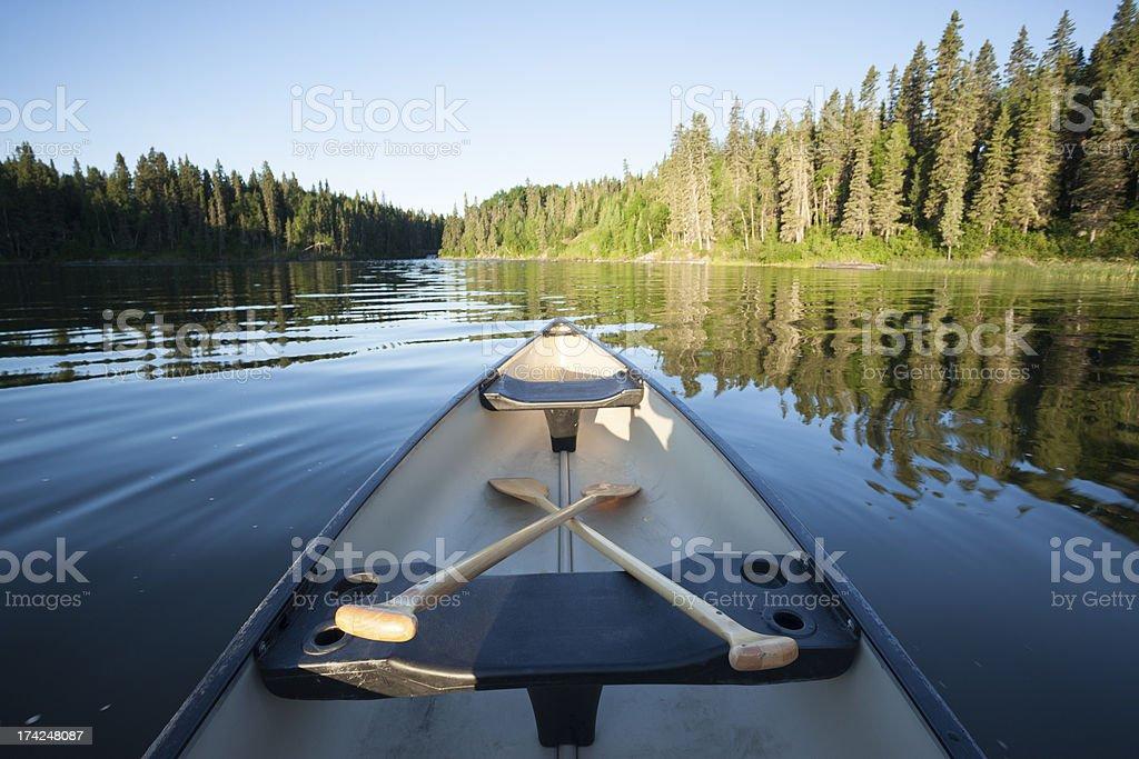 Wekusko Falls Provincial Park royalty-free stock photo