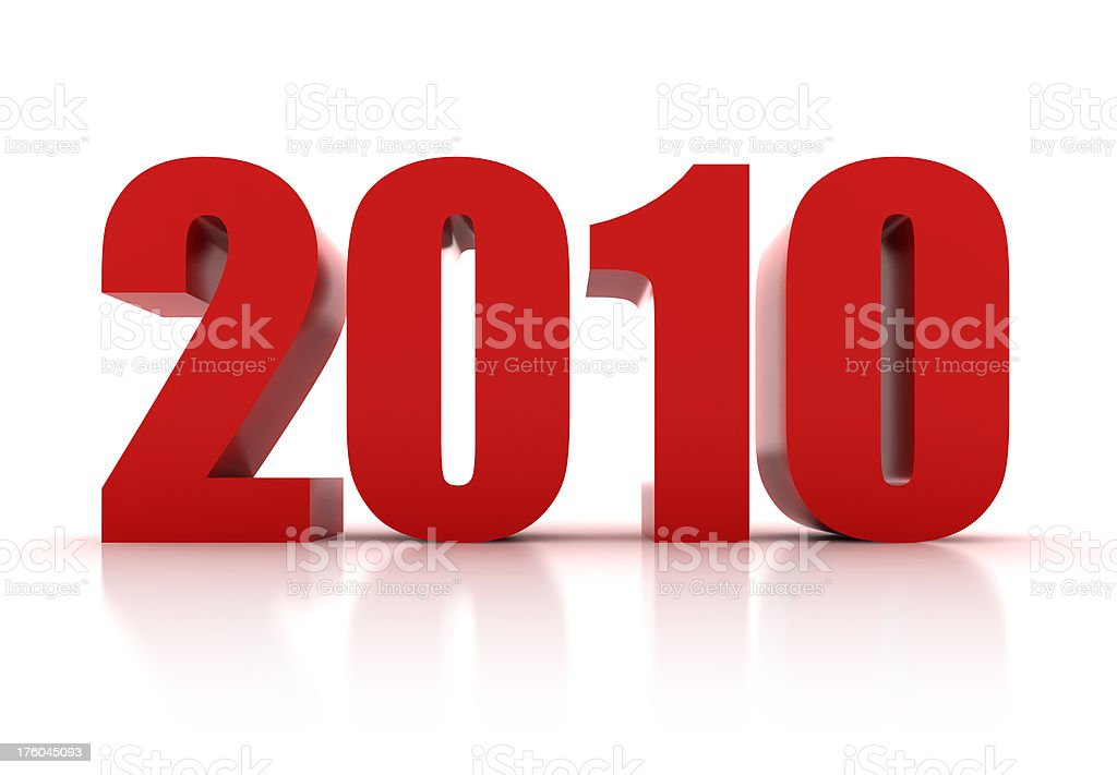 Welcome 2010 royalty-free stock photo