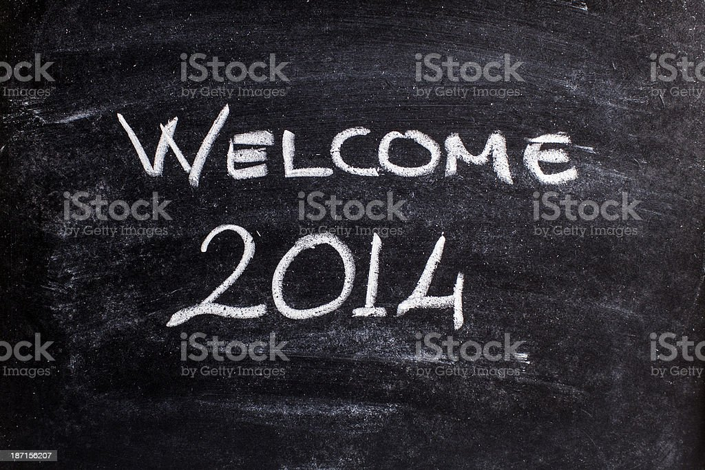 welcome 2014 royalty-free stock photo