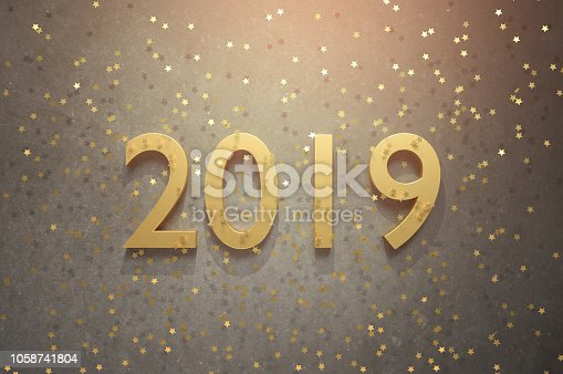 istock Welcome 2019! Happy New Year! 1058741804