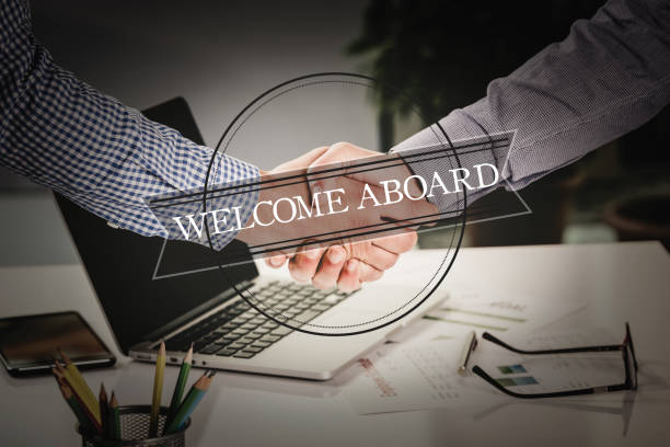 BUSINESS AGREEMENT PARTNERSHIP Welcome Aboard COMMUNICATION CONCEPT BUSINESS AGREEMENT PARTNERSHIP Welcome Aboard COMMUNICATION CONCEPT aboard stock pictures, royalty-free photos & images