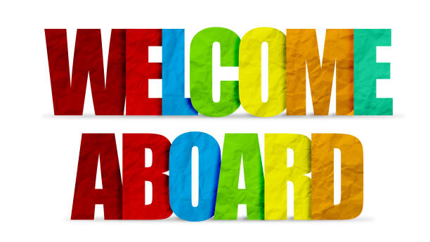Welcome Aboard - illustration concept stock photo