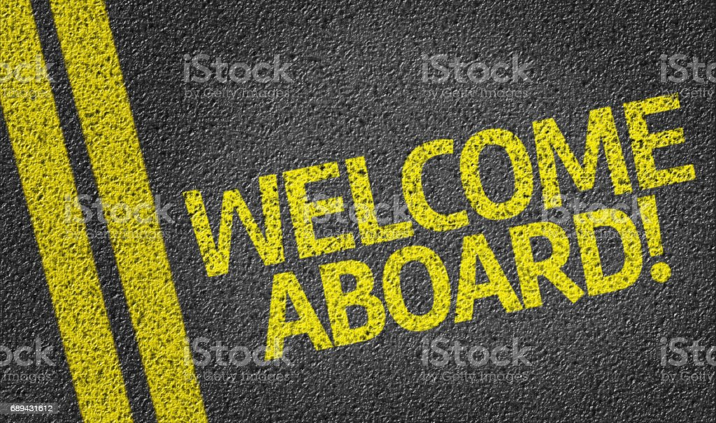 Welcome Aboard! - foto stock