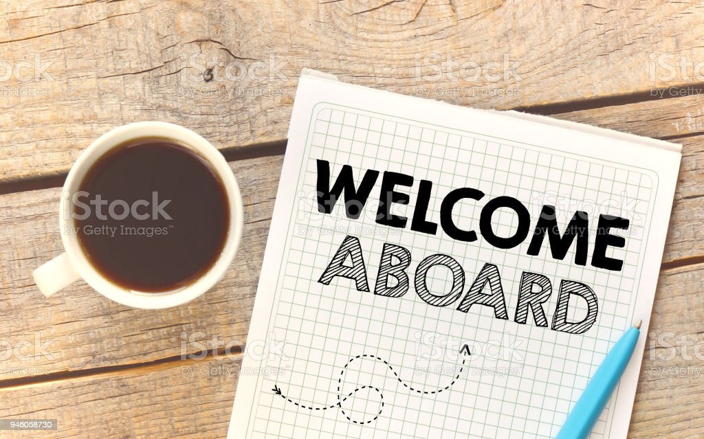 Welcome aboard - foto stock