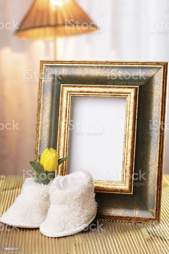 welcome baby gift frame decorated royalty-free stock photo