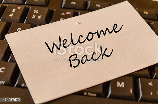 istock Welcome back note 474267572