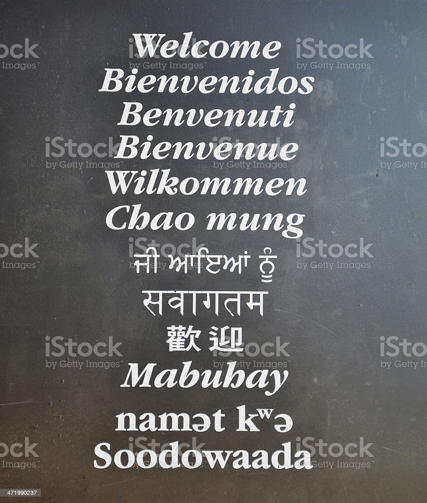 Welcome board royalty-free stock photo