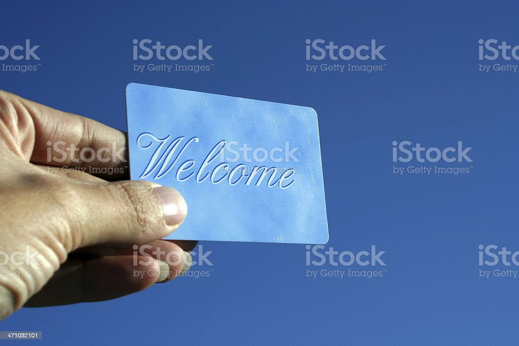 Welcome Card royalty-free stock photo