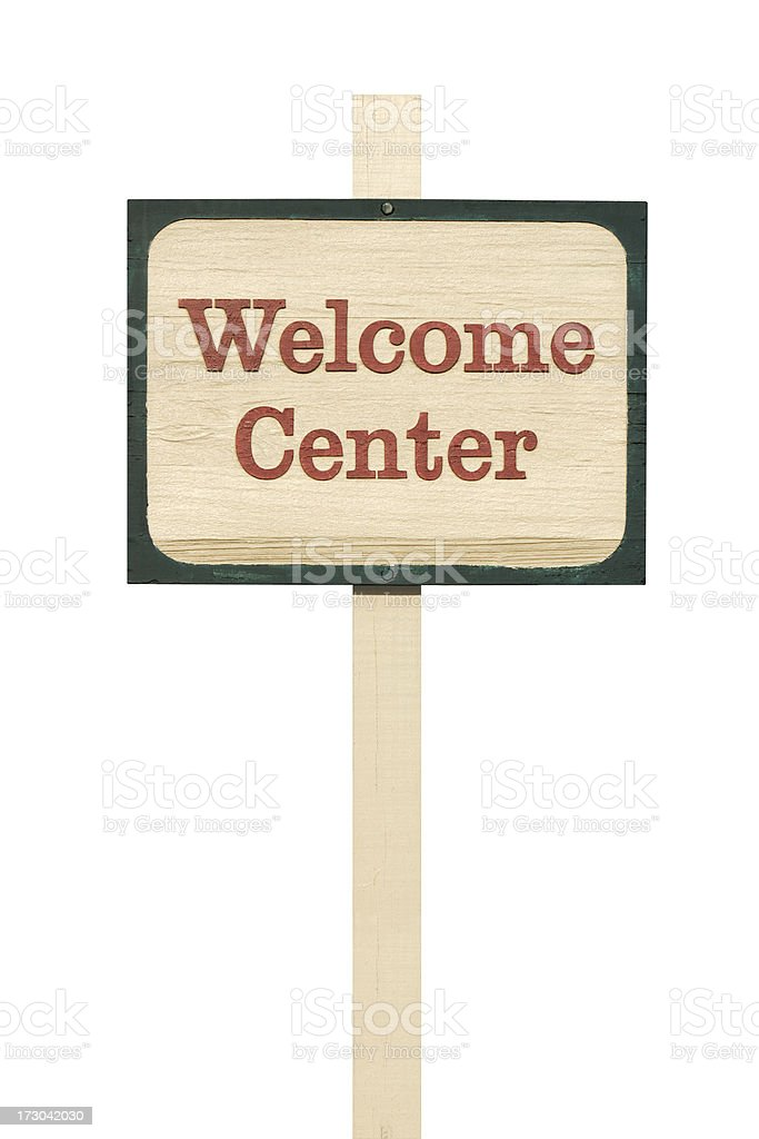 Welcome Center Sign royalty-free stock photo