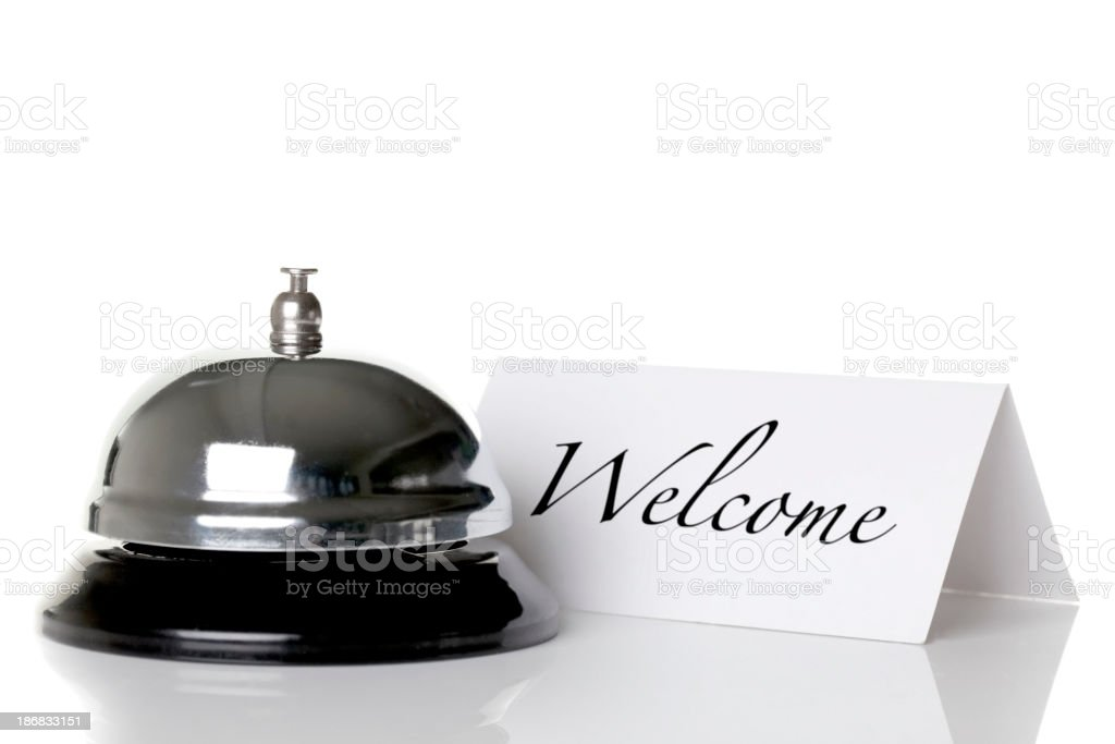 Welcome check in royalty-free stock photo