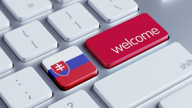 willkommen-konzept - bratislava hotel stock-fotos und bilder