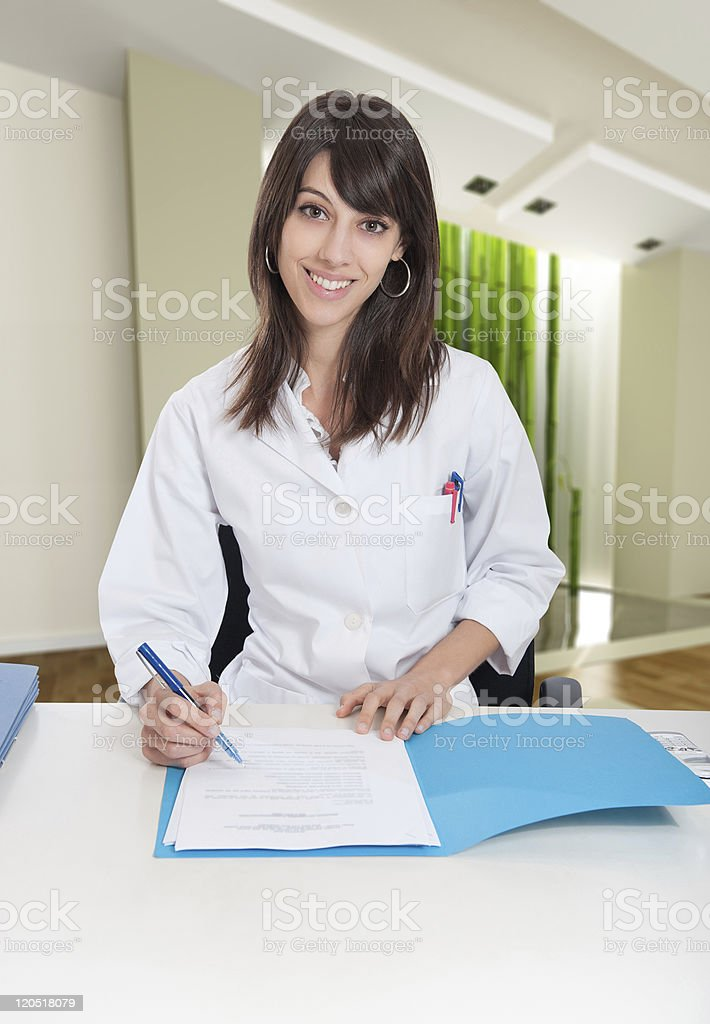 Welcome desk in Zen interior royalty-free stock photo