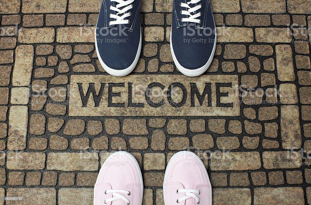 Welcome Doormat royalty-free stock photo