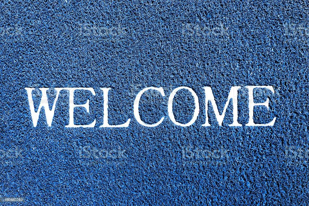 welcome doormat stock photo