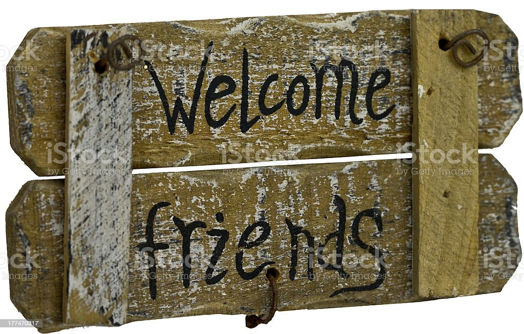 Welcome Friends sign royalty-free stock photo