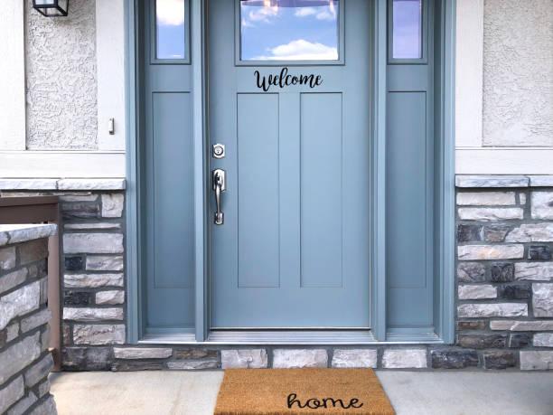Welcome Front Door welcome home front door stock pictures, royalty-free photos & images