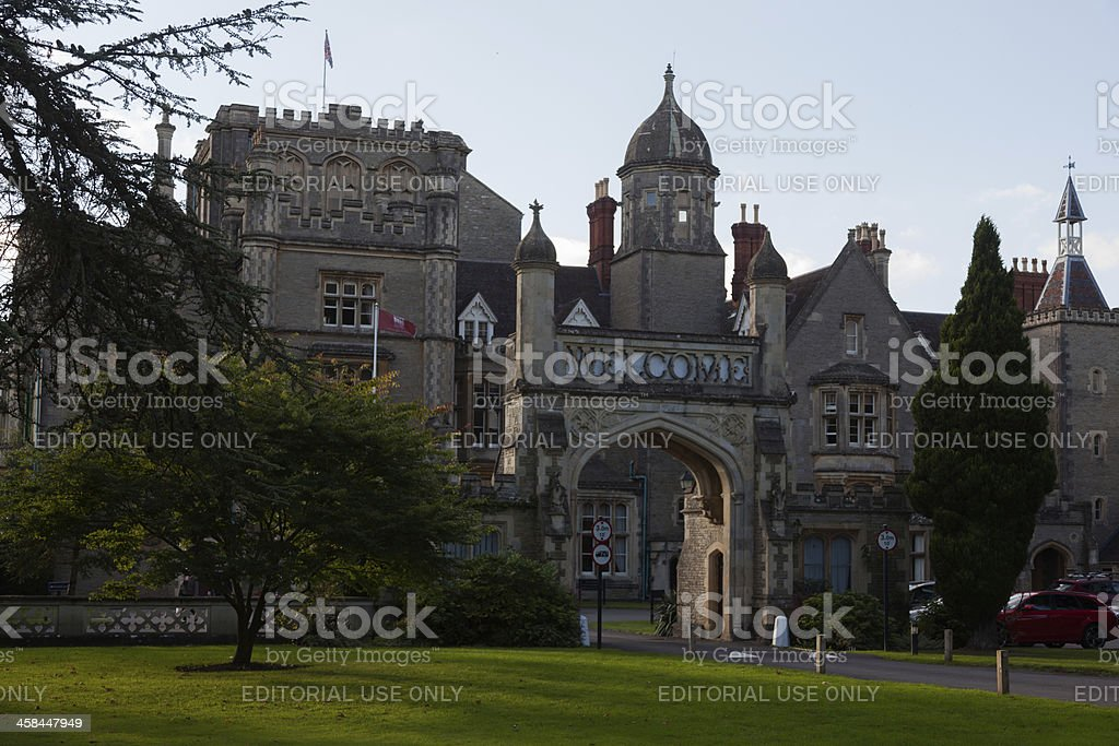 Welcome gate a an English manor house royalty-free stock photo