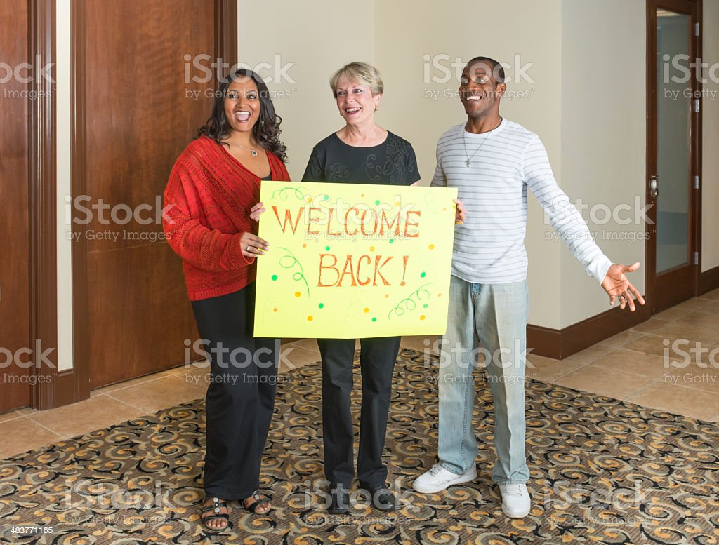 Welcome home group royalty-free stock photo