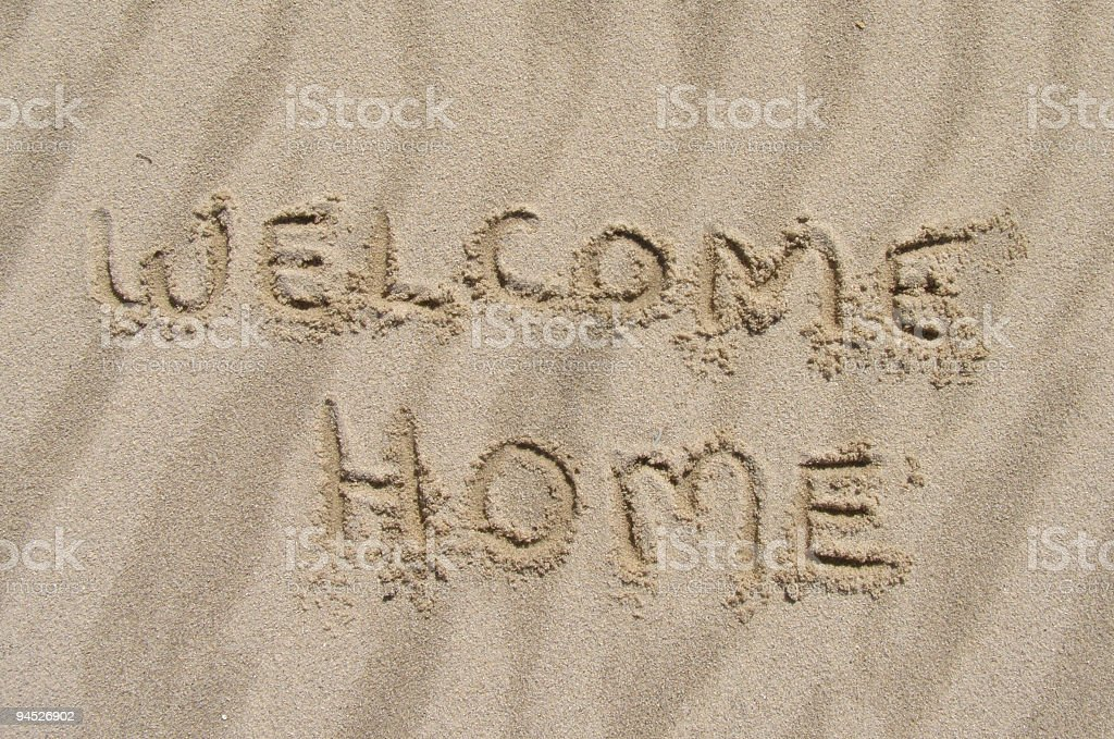 Welcome Home royalty-free stock photo