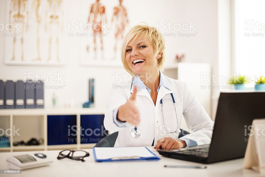 Welcome in my doctor's office royalty-free stock photo