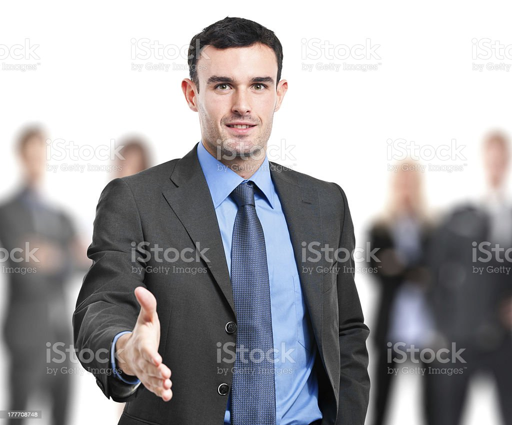Welcome into the team royalty-free stock photo