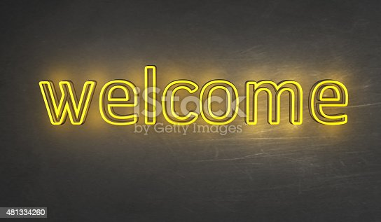 1056445350 istock photo Welcome Light sign 481334260
