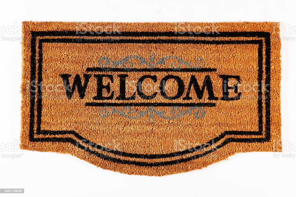 Welcome Mat Isolated On A White Background stock photo