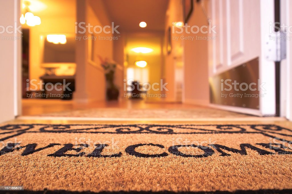 Welcome Mat royalty-free stock photo