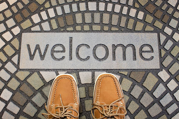 Welcome Mat stock photo
