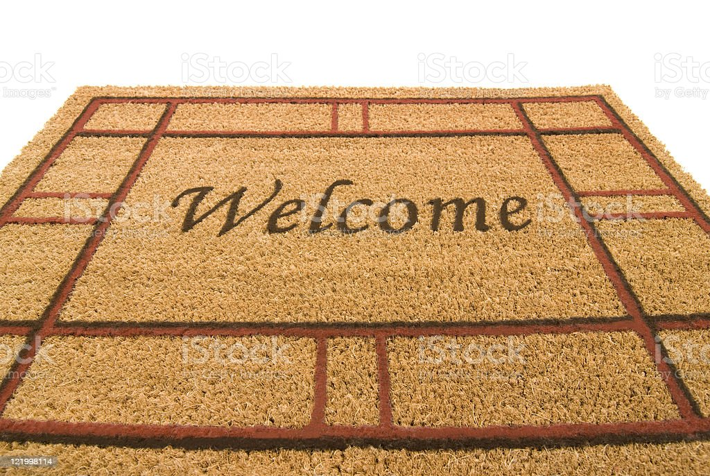 Welcome Mat With Wide Angle Perspective royalty-free stock photo