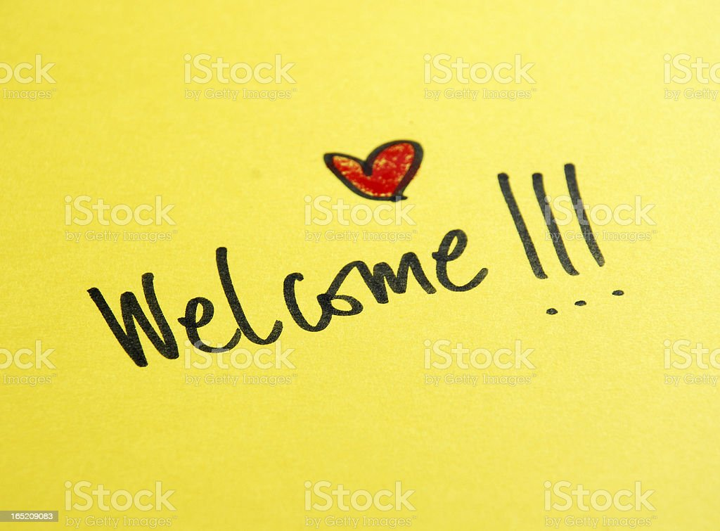 welcome message royalty-free stock photo