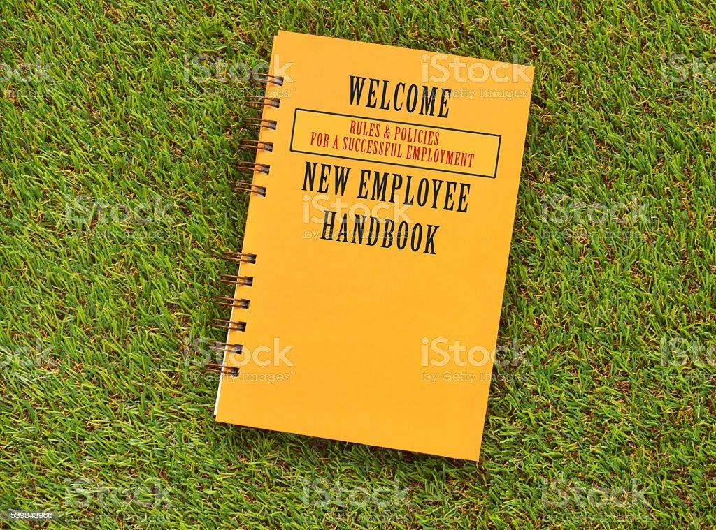 Welcome New Employee Handbook stock photo