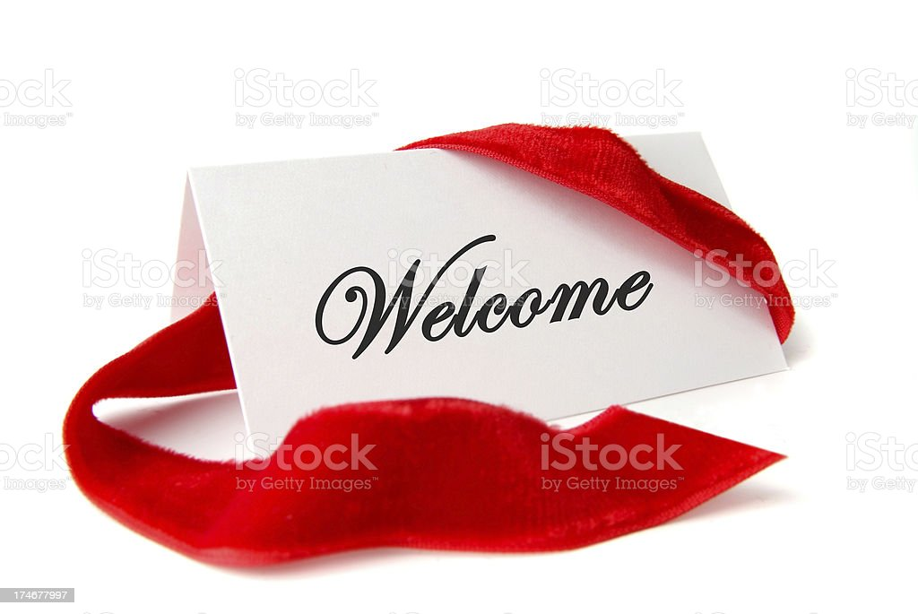 Welcome Note royalty-free stock photo