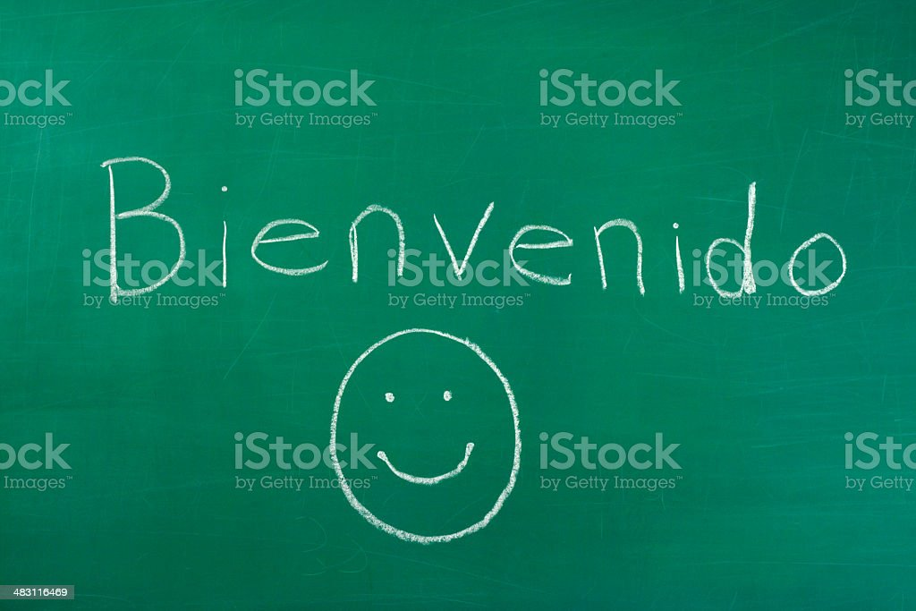 Bienvenido royalty-free stock photo