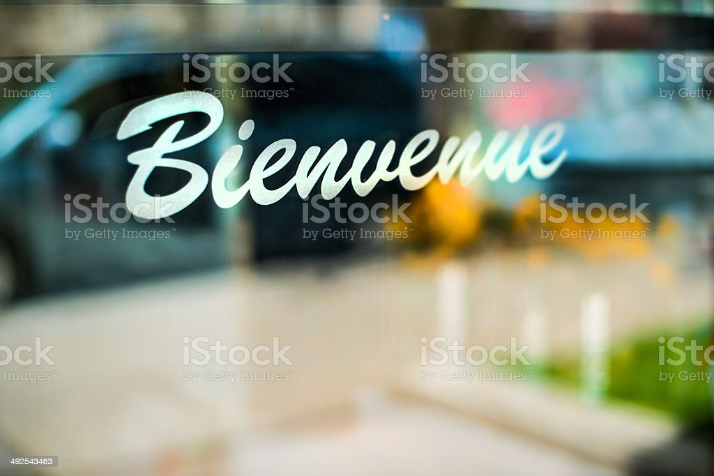 Bienvenue stock photo