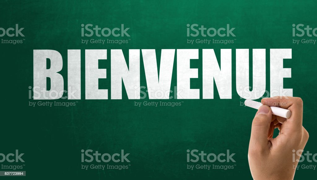 Welcome (in French) stock photo