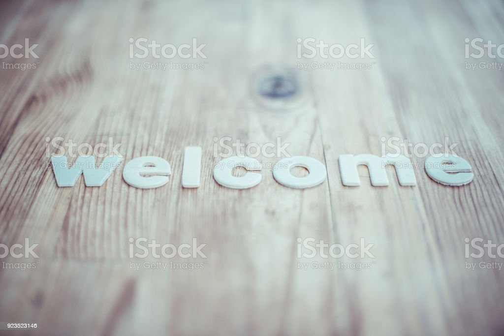 Welcome stock photo