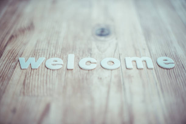 Welcome - foto stock