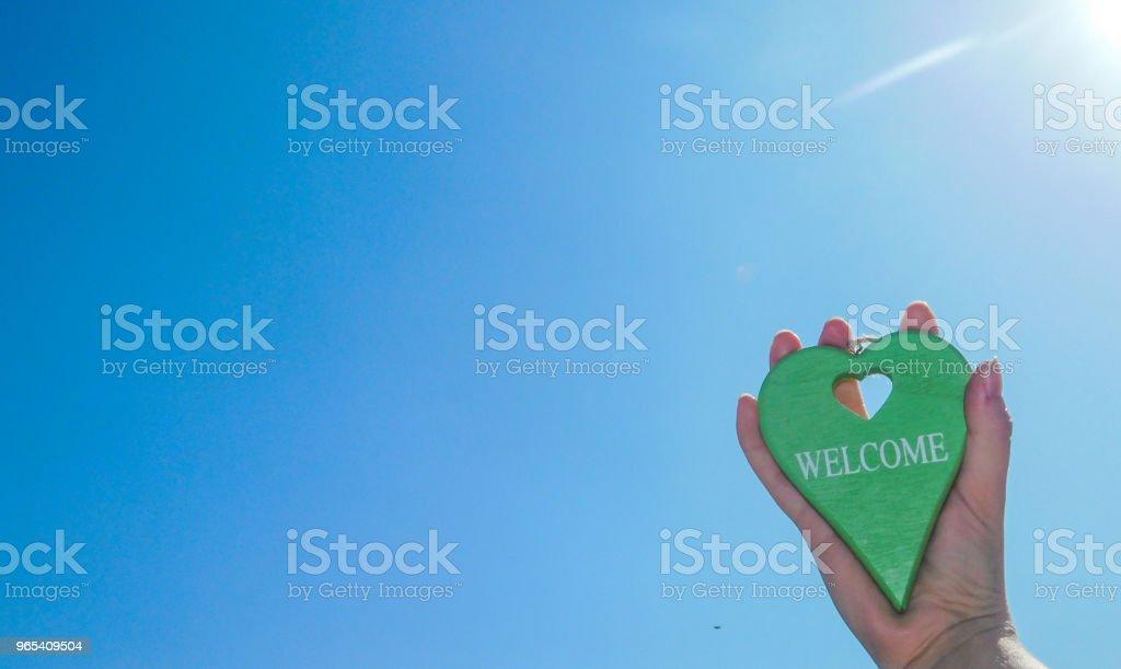 Herzlich willkommen - Lizenzfrei Bildhintergrund Stock-Foto