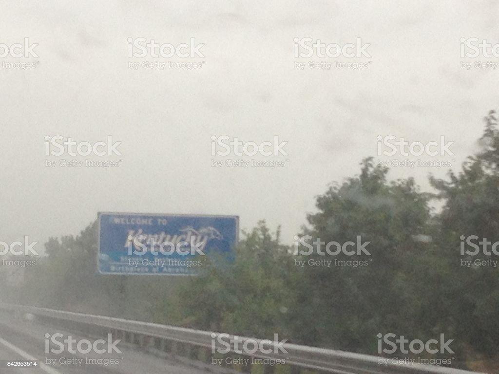letrero de bienvenida a Kentucky, Estados Unidos stock photo