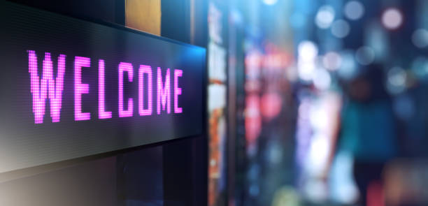 Welcome signage - foto stock