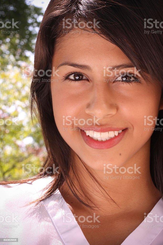 Sonrisa de bienvenida foto de stock libre de derechos