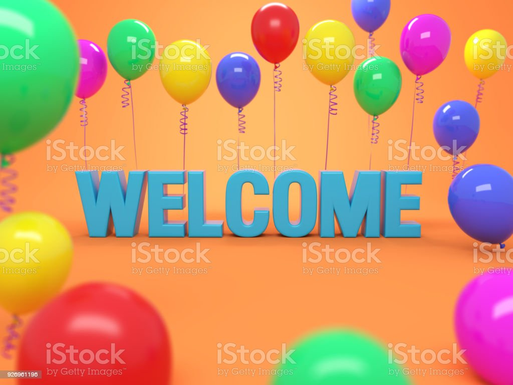 Welcome text 3d rendered image stock photo more pictures of welcome text 3d rendered image royalty free stock photo buycottarizona Gallery