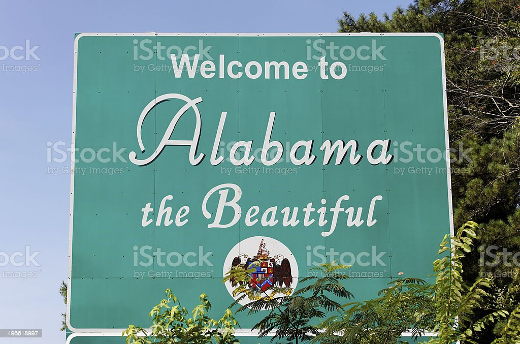 Welcome to Alabama stock photo