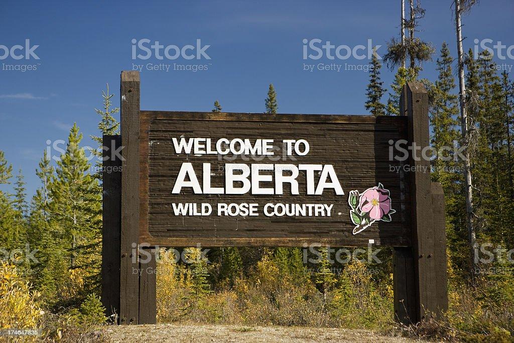 Welcome to Alberta stock photo